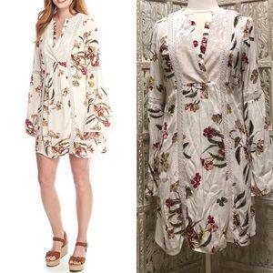 Floral Bell Sleeve Peasant Dress
